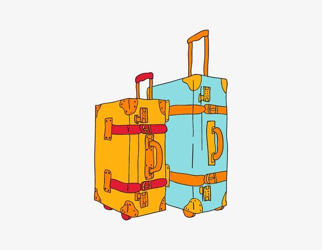 手绘卡通行李箱
