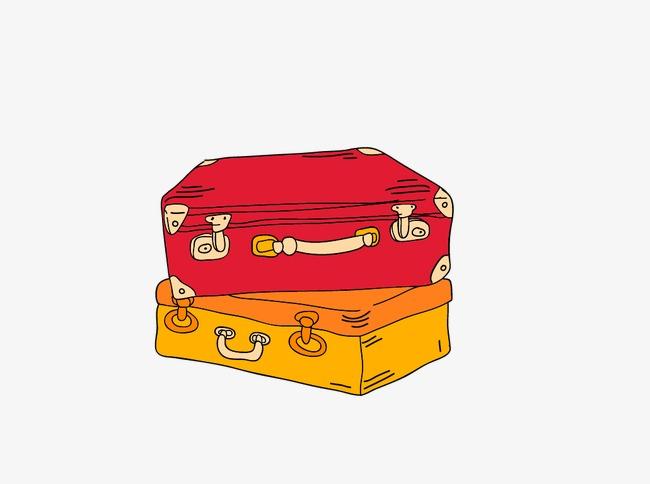 手绘卡通行李箱(图片编号:15398083)