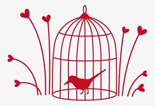 鸟笼艺术创意矢量图