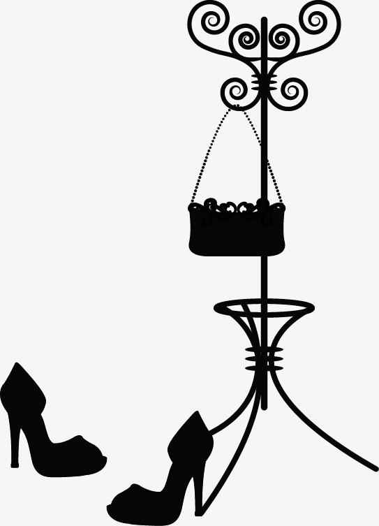 手绘衣架鞋子包包图案