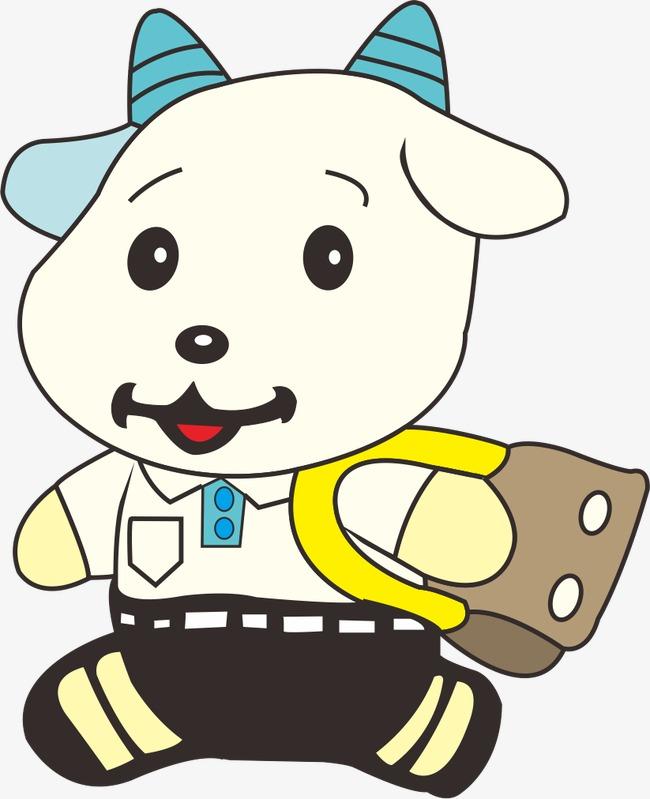卡通微笑小羊模板下载(图片编号:14735443)