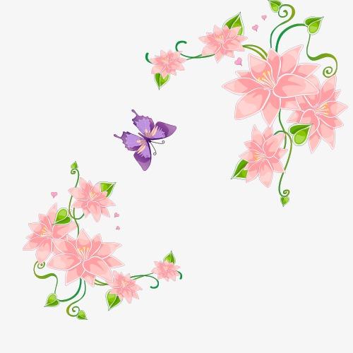 抽象花朵墙画花朵插画
