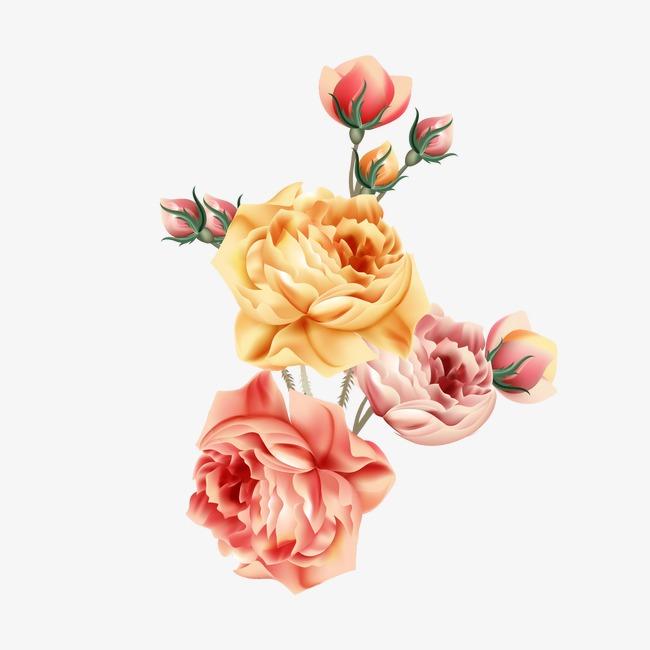 手绘水粉花卉