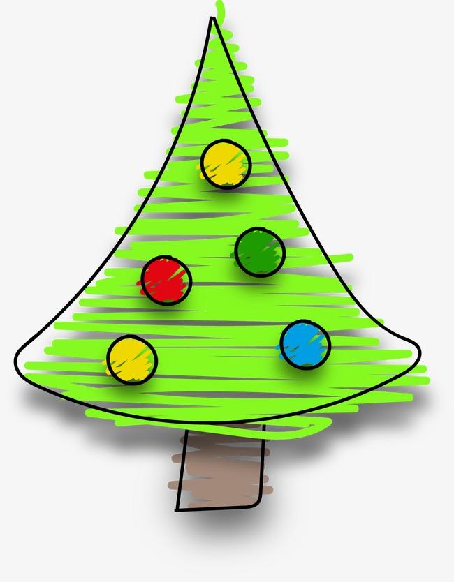 卡通手绘圣诞树(图片编号:15397786)