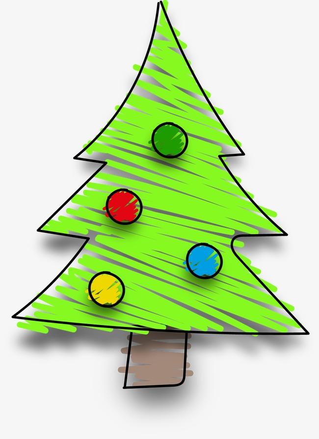 卡通手绘圣诞树(图片编号:15397785)