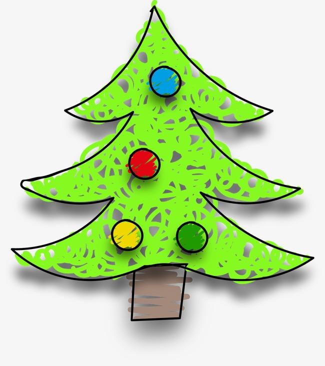 卡通手绘圣诞树