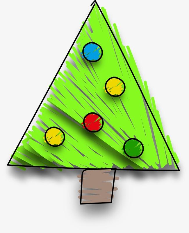 卡通手绘圣诞树(图片编号:15397783)