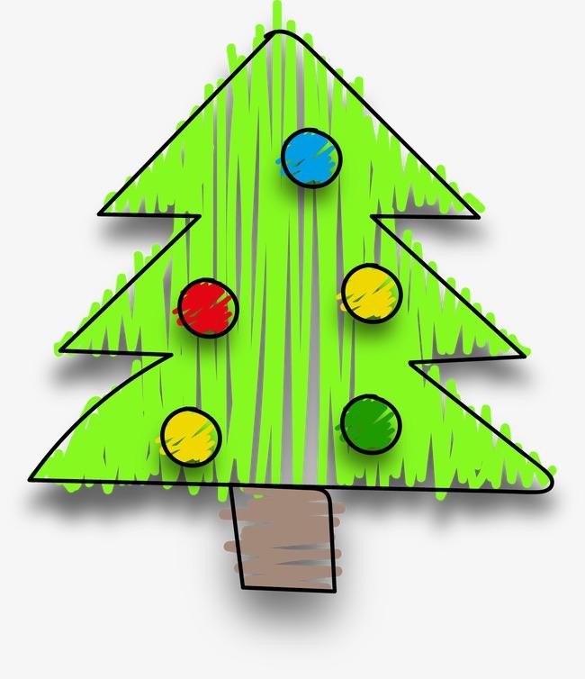 卡通手绘圣诞树(图片编号:15397701)