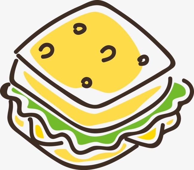 手绘快餐图标