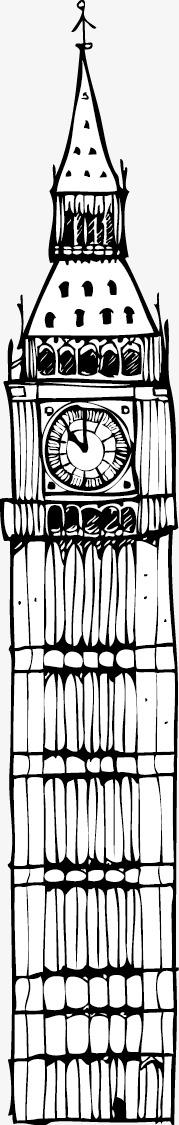 手绘世界名胜古迹线稿
