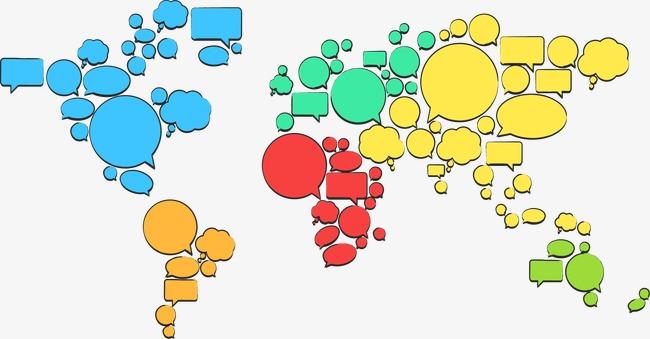 手绘对话框世界地图
