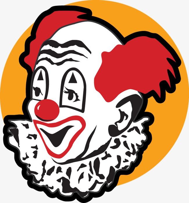 卡通手绘小丑