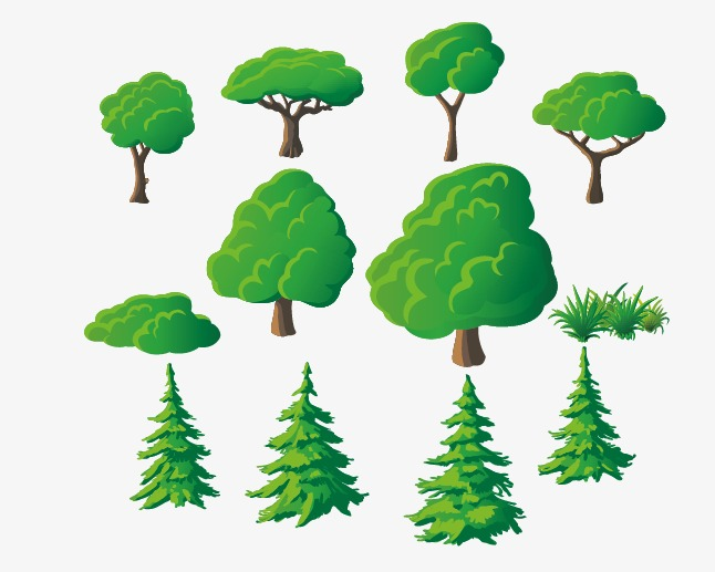 矢量创意树png素材-90设计