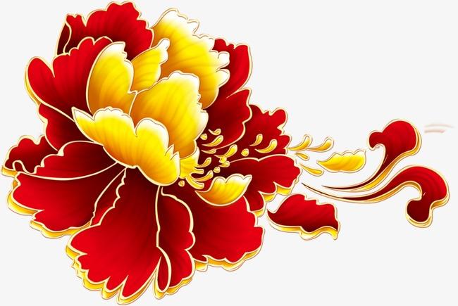 淘宝素材,大红花