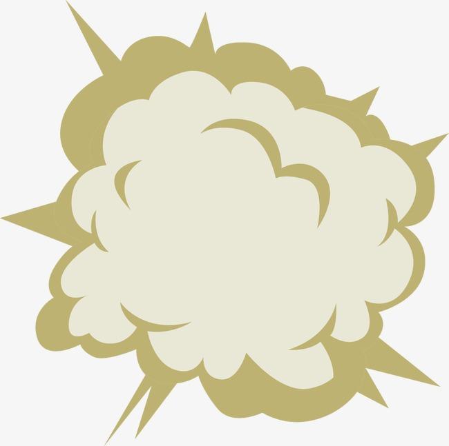 手绘爆炸云矢量元素