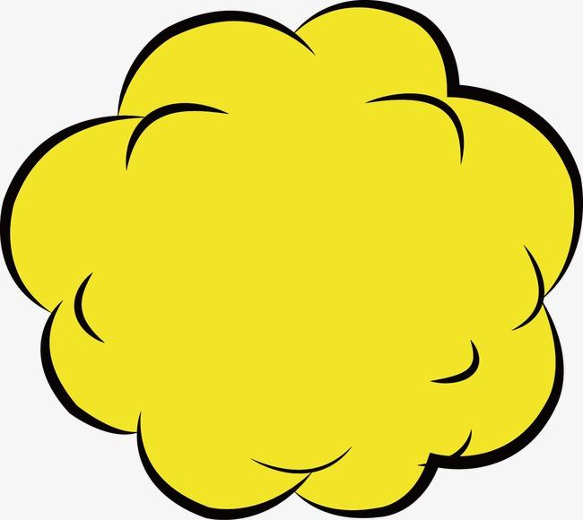手绘黄色对话框矢量元素