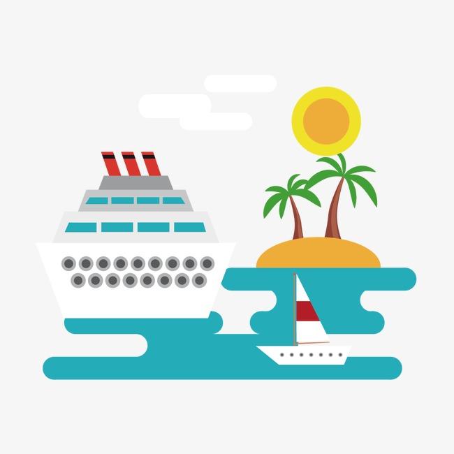 船和椰子树