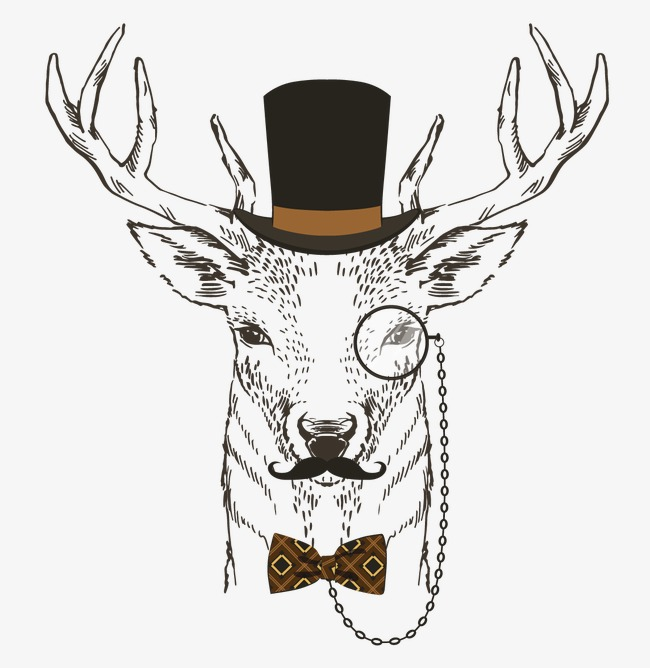 时尚动物插画矢量图