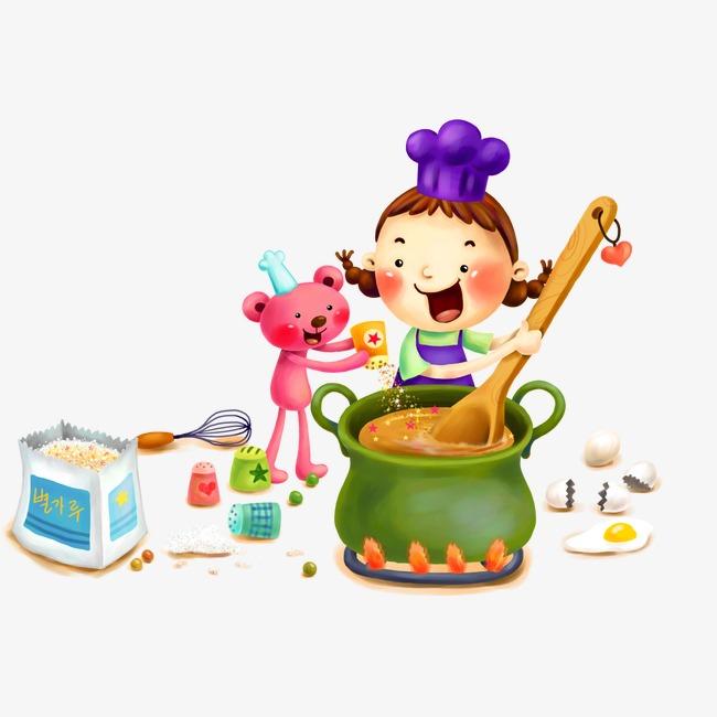 锅铲子做饭妇女厨房做饭做饭矢量图女人做饭妈妈做饭