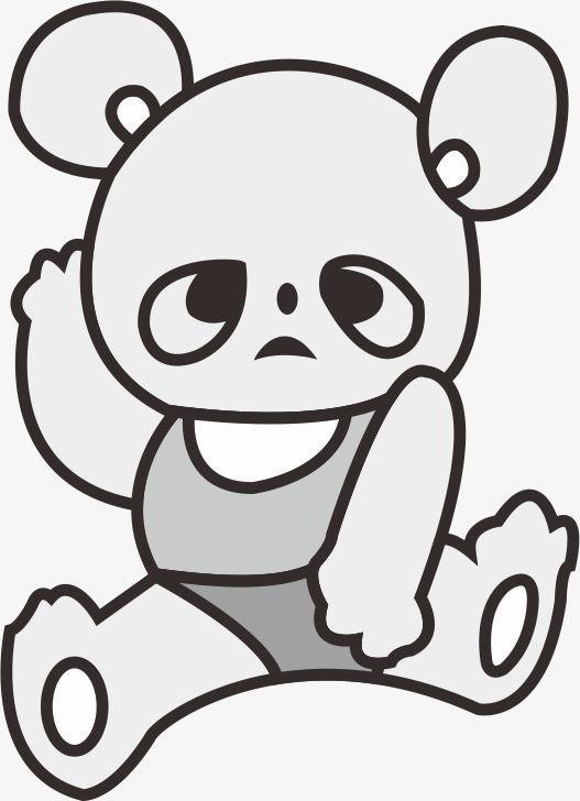 可爱小熊插画
