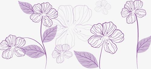紫色半透明创意花纹