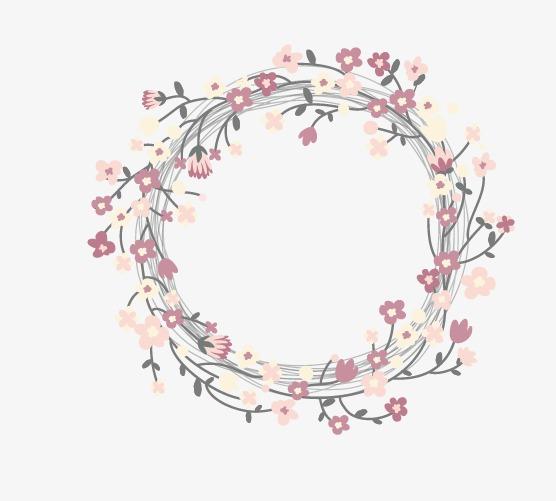 橡皮章素材 花环