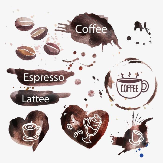 咖啡标签设计矢量图