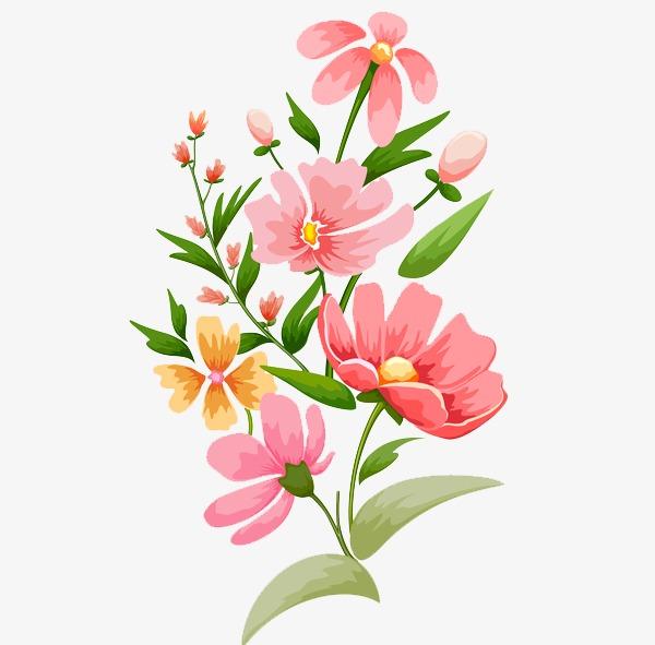 手绘唯美花卉图案