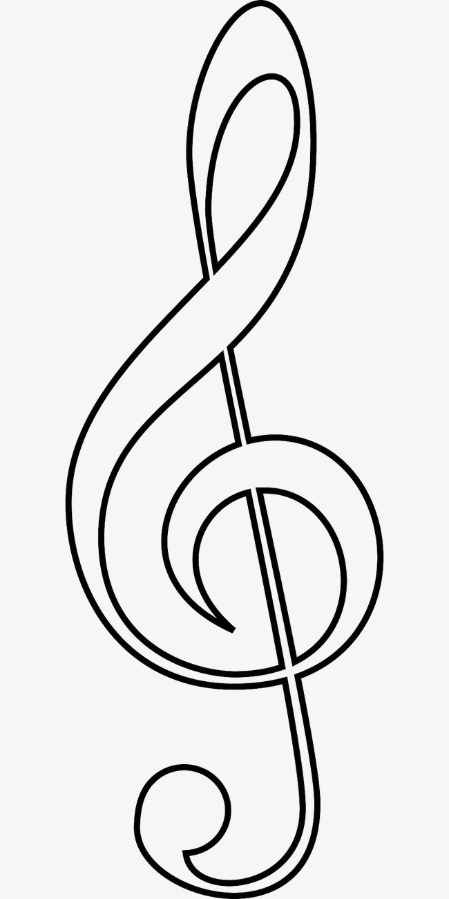 五线谱的高音谱号素材图片免费下载 高清装饰图案png 千库网 图片编