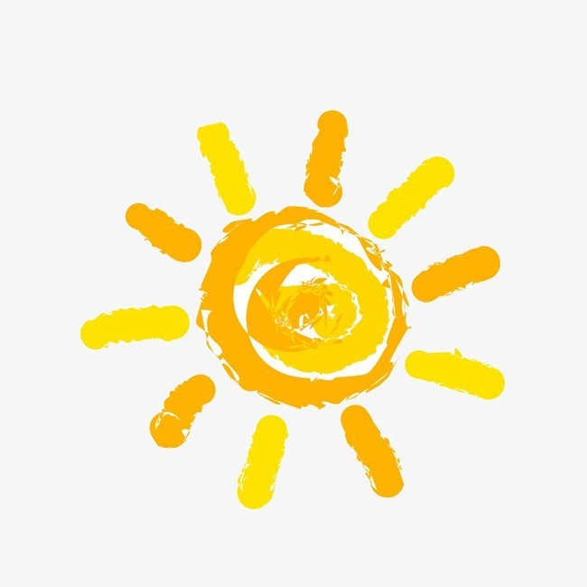 卡通背景_卡通小太阳png素材-90设计图片