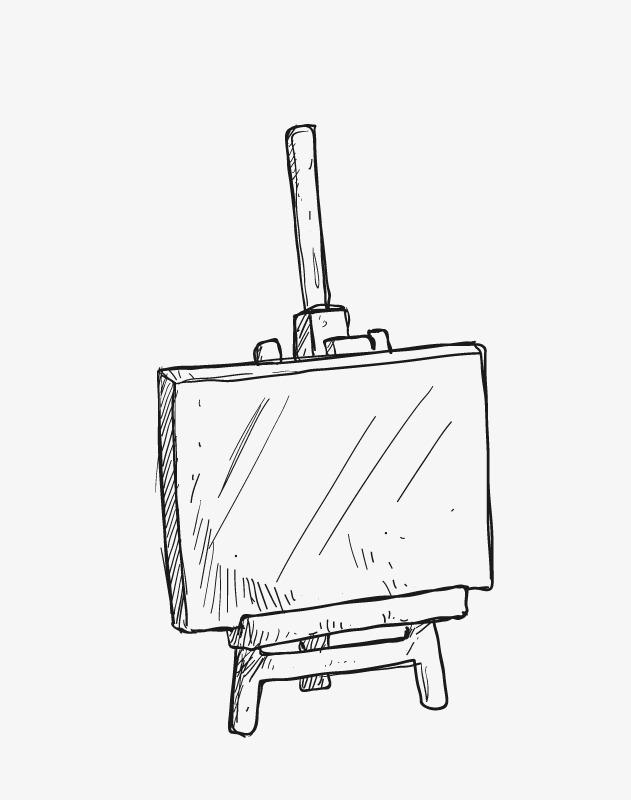手绘画架 油画架