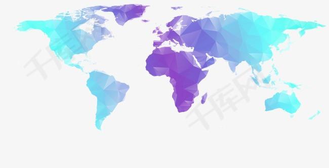 世界地图的素材免抠几何世界地图世界地图时尚地图PPT元素EPS几何