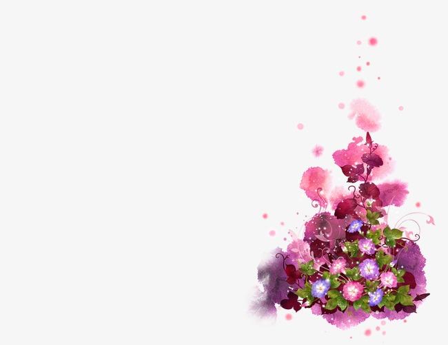 紫藤花手绘