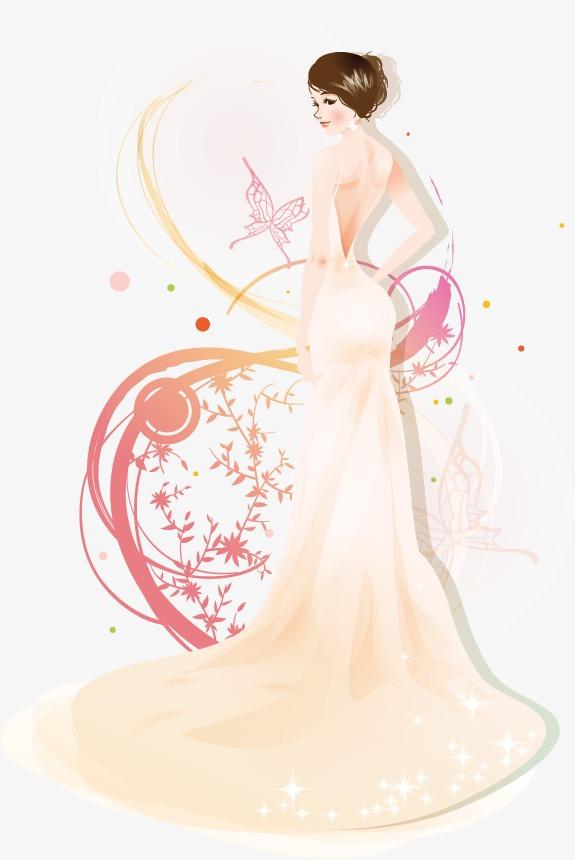 卡通美女矢量图素材图片免费下载 高清装饰图案psd 千库网 图片编号2986008