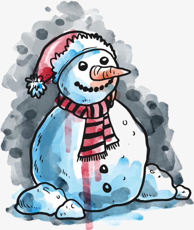 水彩手绘圣诞节装饰