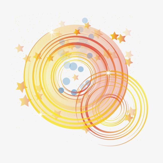 炫彩圆环图案png素材-90设计