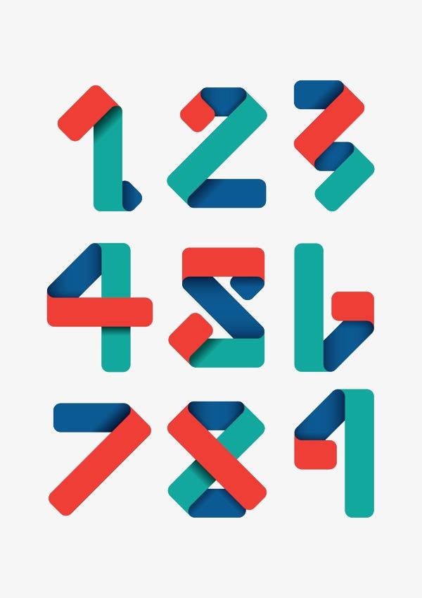 手绘阿拉伯数字123456789艺术字合集【高清艺术字体】