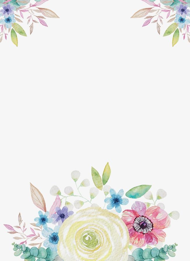 手绘  水粉  唯美  森林系  花卉  儿童插画
