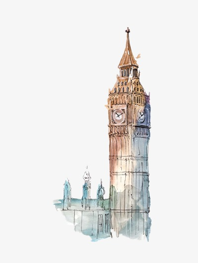 房子 楼房 城市建筑手绘插画名胜古迹             此素材是90设计网