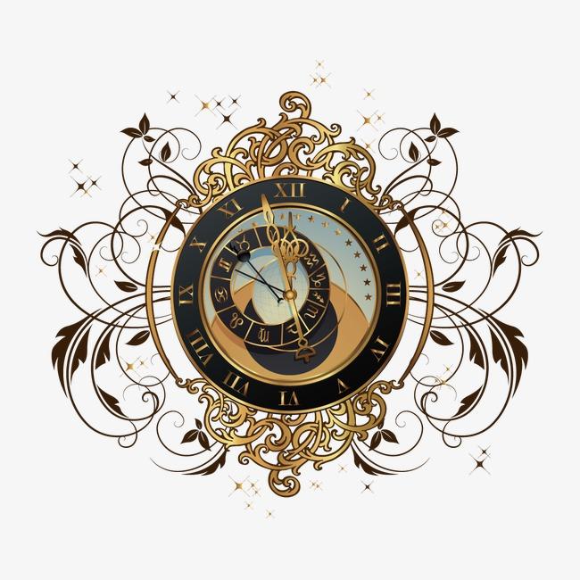 时钟创意图案png素材-90设计
