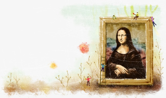 卡通手绘创意风景人物