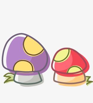 手绘卡通装饰蘑菇手绘卡通装饰动物国旗韩国卡通可爱生活用品可爱小