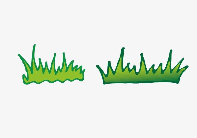 手绘草丛图片