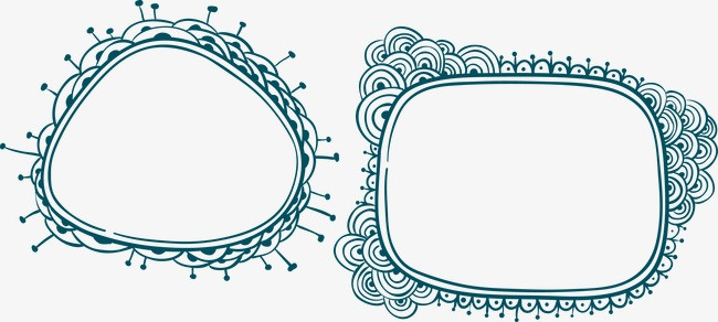 手绘花边素材图片免费下载 高清装饰图案psd 千库网 图片编号3074103图片