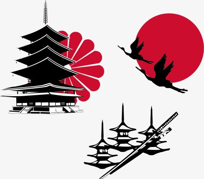 手绘插画  寿司  桃花  插画素材  日本   经典日本元素 手绘