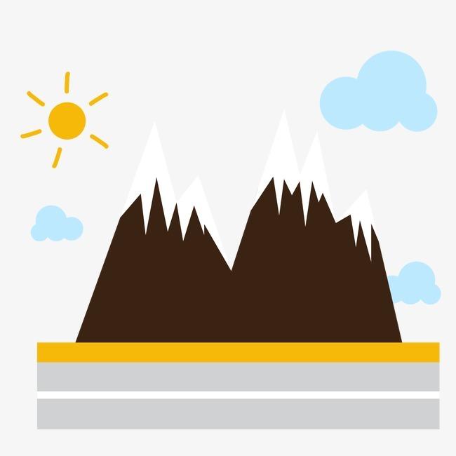 卡通山峰风景【高清装饰元素png素材】-90设计