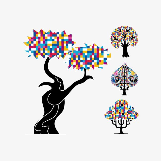 创意矢量树png素材-90设计