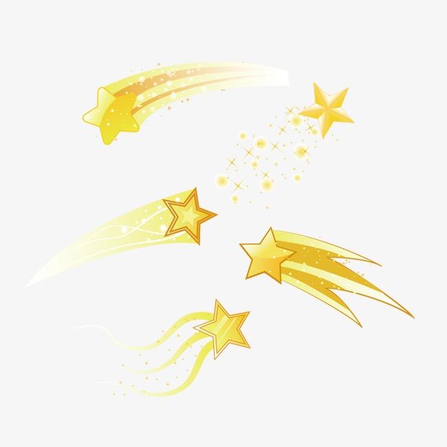 金色立体星星【高清装饰元素png素材】-90设计