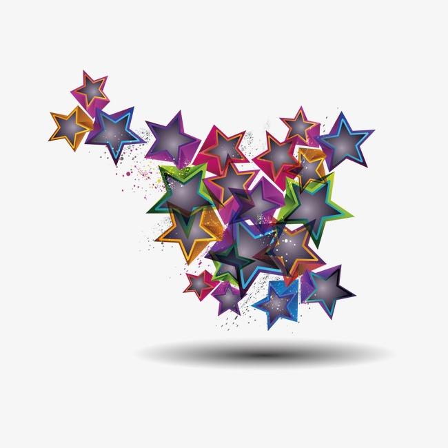 创意立体星星png素材-90设计