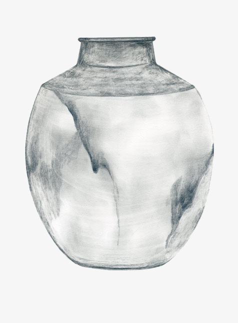 铅笔画花瓶素材图片免费下载 高清png 千库网 图片编号3117050